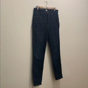Madewell dark wash jeans.